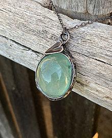 Náhrdelníky - Flourit svetlozelený - náhrdelník - 10646849_