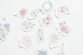 Papier - Botanical & floral nálepky - 10647153_