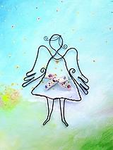 Detské doplnky - Jarný anjel - 10647097_