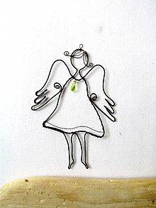 Detské doplnky - Jarný anjel (s kvapkou rosy) - 10647089_