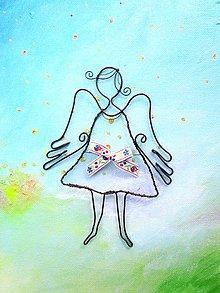 Detské doplnky - Jarný anjel (so stužkou) - 10647097_