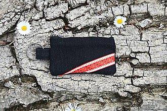 Peňaženky - Mincovnička - prívesok na kľúče - čierna - 10645488_