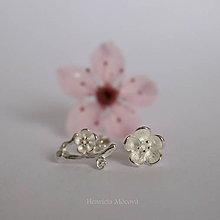Náušnice - napichovacie náušnice - čerešňové (sakurové) kvety - 10646378_