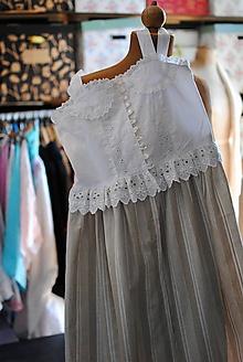 Detské oblečenie - Vintage šaty pre slečnu - 10645266_