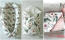 """Textil - Velký set do pôrodnice """"kvety"""" - 10648024_"""