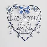 Dekorácie - svadobné srdiečko s perličkami - 10648997_