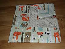 Textil - Detská deka s minky 80x80 cm - 10650046_