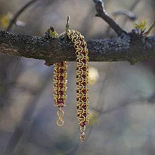 Náramky - Buclík - červenozlatý náramok - 10648378_
