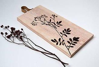 Pomôcky - Drevený lopárik s rastlinkou - 10649347_