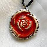 Náhrdelníky - Ruža - 10650096_