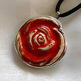 Náhrdelníky - Ruža - 10650097_