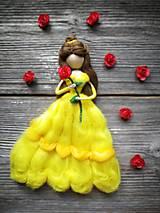 Dekorácie - Plstena princezna Kráska - 10648816_