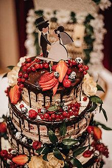 Dekorácie - Zápich na svadobnú tortu - farebný - 10649975_
