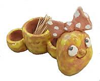 Nádoby - Húsenička -- soľnička -- korenička -- keramika - 10649675_