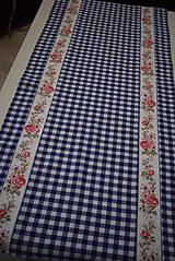 Úžitkový textil - STŘEDOVÝ BĚHOUN...modrá kostka - 10649271_