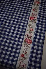 Úžitkový textil - STŘEDOVÝ BĚHOUN...modrá kostka - 10649273_