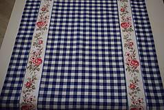 Úžitkový textil - STŘEDOVÝ BĚHOUN...modrá kostka - 10649275_
