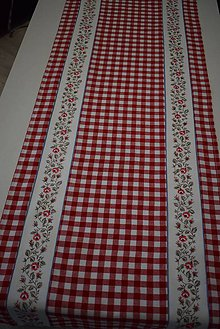 Úžitkový textil - STŘEDOVÝ BĚHOUN ...červená kostka - 10649537_