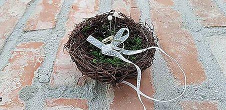 Prstene - Hniezdo na svadobné obrúčky - 10647373_