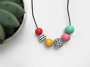 Náhrdelníky - Farebný náhrdelník - 10649783_