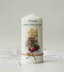 Svietidlá a sviečky - Dekoračná sviečka k prvému svätému prijímaniu - 10649772_