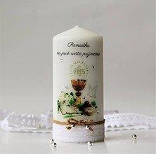 Svietidlá a sviečky - Dekoračná sviečka k prvému svätému prijímaniu - 10649788_