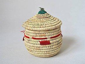Krabičky - (Tribal) ECO Prútená šperkovnica z palmových listov - 10649360_