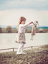 Detské oblečenie - Ľanová sukňa