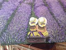 Obrazy - Sestričky v levanduľovom poli - 10649429_