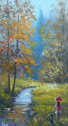 Obrazy - K prameňu rieky - 10649738_