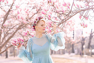 Ozdoby do vlasov - Kvetinový venček ,,eukalyptus farebný,, - 10647996_