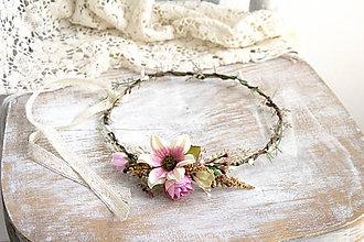 Ozdoby do vlasov - Kvetinový venček ,,lúčny, - 10650233_