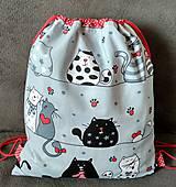 Batohy - Sivý vak- mačičky - 10649366_