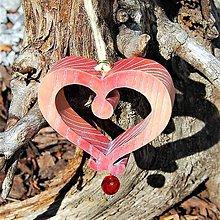 Dekorácie - Tyrolské Drevené Srdce - 10647388_