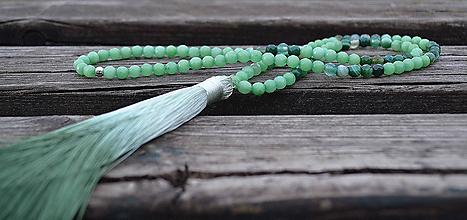 Náhrdelníky - Achát náhrdelník so strapcom - 10647404_