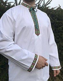 Oblečenie - Folklórna košeľa pánska František - 10648469_