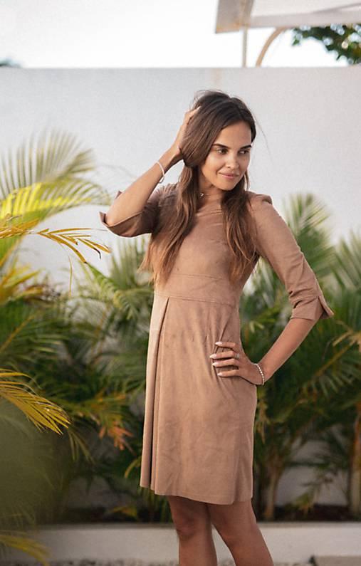 Šaty - Šaty z pobrúseného materiálu - 10648076_