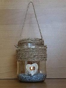 Svietidlá a sviečky - Závesný lampáš - 10648351_