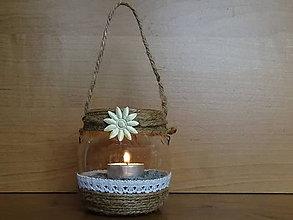 Svietidlá a sviečky - Závesný lampáš - 10649038_