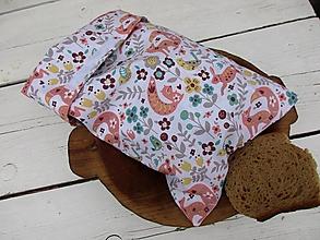 Úžitkový textil - bezodpadové desiatové vrecko-líška - 10649368_