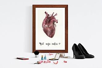 Obrazy - Máš moje srdce - print - 10649879_