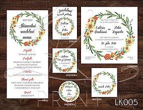 Papiernictvo - Svadobné oznámenie LK005 - 10648094_