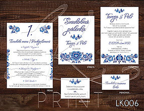 Papiernictvo - Svadobné oznámenie LK006 - 10648110_