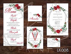 Papiernictvo - Svadobné oznámenie LK008 - 10648147_
