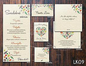 Papiernictvo - Svadobné oznámenie LK009 - 10648166_