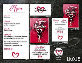 Papiernictvo - Svadobné oznámenie LK015 - 10648267_