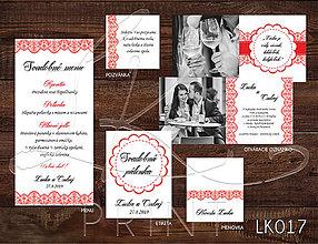 Papiernictvo - Svadobné oznámenie LK017 - 10648291_