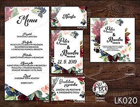 Papiernictvo - Svadobné oznámenie LK020 - 10648326_