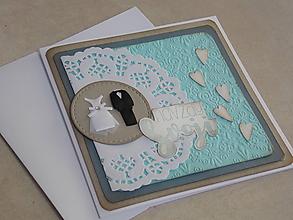 Papiernictvo - ...pohľadnica svadobná... - 10650111_