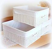 Košíky - Košík - v bielom šate - 10647950_